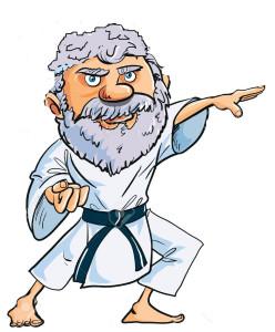 16436081-Cartoon-Karate-Santa-Clause-isolated-on-white-Stock-Vector-karate-christmas-taekwondo